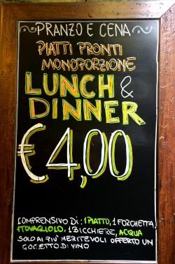 Pasta a 4 euros!