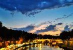 Por do sol em Roma